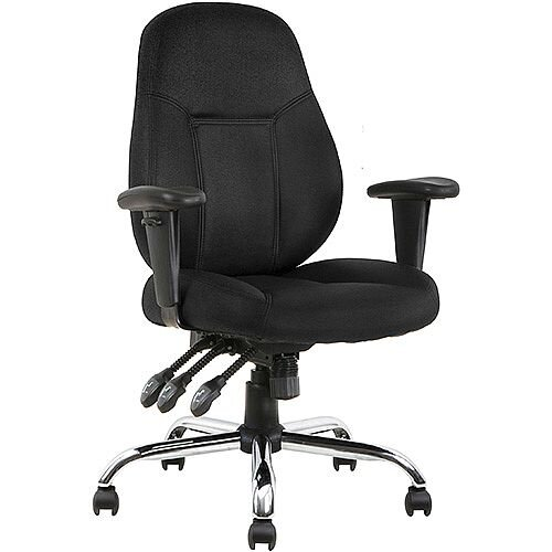 Storm Task Operator Office Chair Black Fabric With Arms