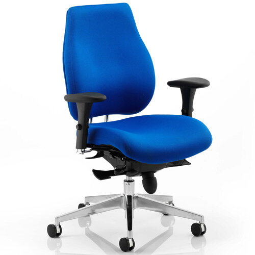 Chiro Plus Ergo Posture Office Chair Blue With Arms