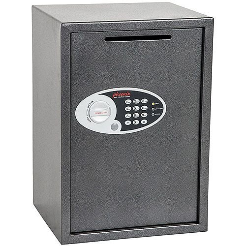 Phoenix Vela Deposit Home &Office SS0804ED Size 4 Security Safe with Electronic Lock Metalic Graphite 51L
