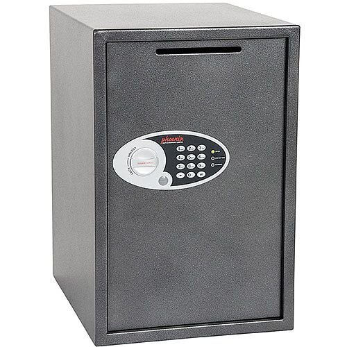 Phoenix Vela Deposit Home &Office SS0805ED Size 5 Security Safe with Electronic Lock Metalic Graphite 88L