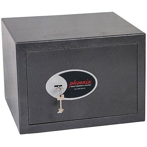 Phoenix Lynx SS1172K Size 2 Security Safe with Key Lock Metalic Graphite 22L