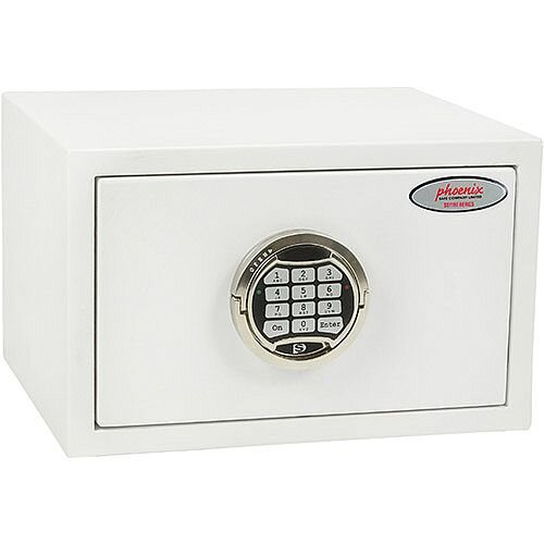 Phoenix Fortress SS1181E Size 1 S2 Security Safe with Electronic Lock White 7L