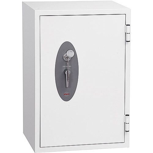 Phoenix Fire Fox SS1621K Size 1 Fire &S1 Security Safe with Key Lock White 129L 120min Fire Protection