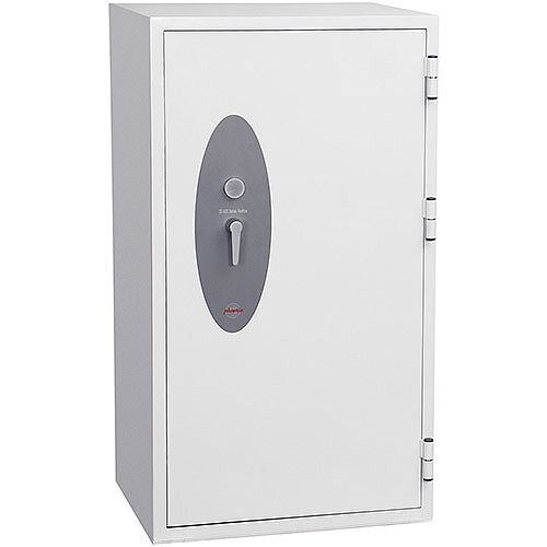 Phoenix Fire Fox SS1623K Size 3 Fire &S1 Security Safe with Key Lock White 315L 120min Fire Protection