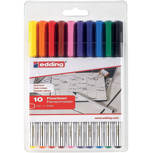 Edding 89 Office Liner Assorted Pack of 10 4-89-10