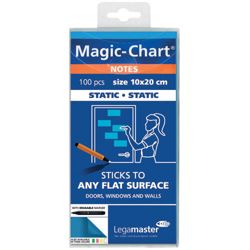 Legamaster Magic Notes 20X10cm Blue Pack of 100 7-159410