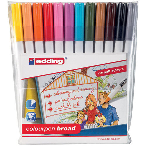 Edding Colourpen Broad Pack of 12 1420999