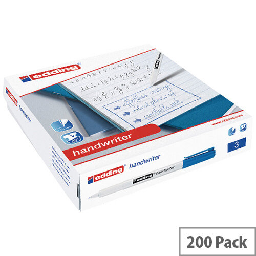 Edding Handwriter Pen Blue Class Pack of 200 300463000