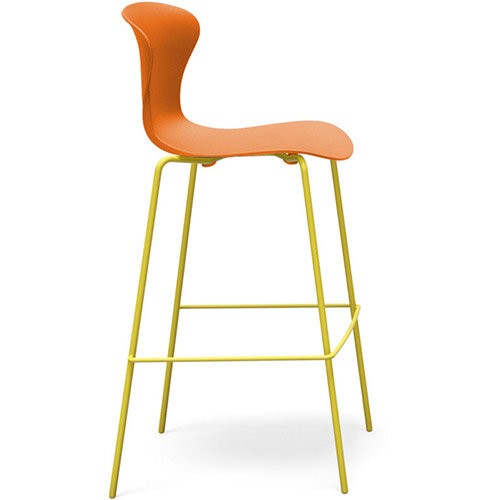 Frovi EGO Canteen Stool With Painted 4 Leg Base H1120xW490xD550mm 790mm Seat Height Orange