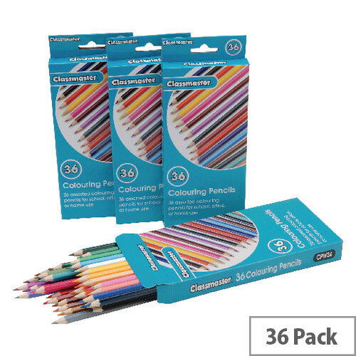 Classmaster Colouring Pencils Assorted CPW36 Pack of 36