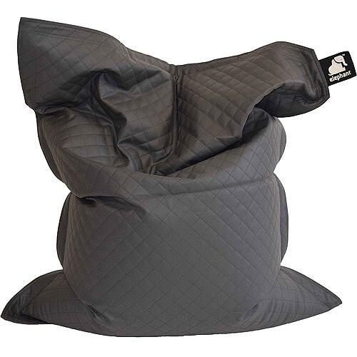 Elephant Jumbo Bean Bag 1750x1350mm Smoke Grey Quilted