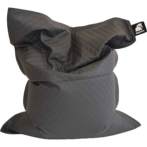 Elephant  Junior Kids Size Bean Bag 1400x1100mm Smoke Grey Quilted