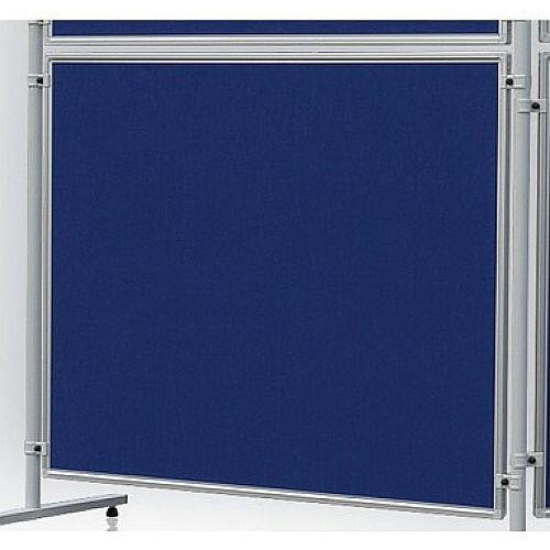 Double Sided Felt Notice Board 1200 x 1200mm Blue Franken Eco Partition System Module
