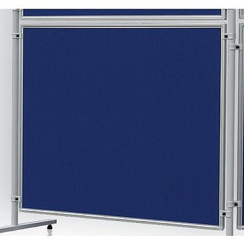Double Sided Felt Notice Board 1200 x 1500mm Blue Franken Eco Partition System Module