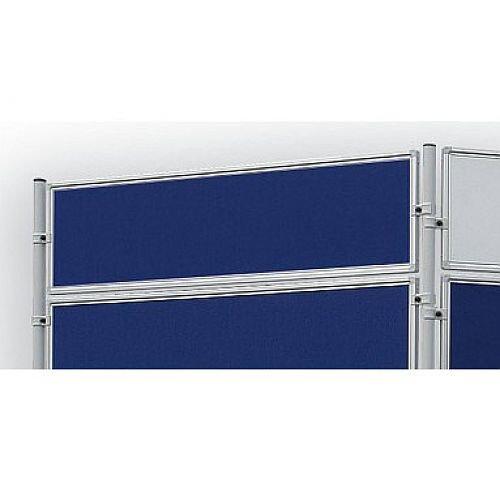 Double Sided Felt Notice Board 1200 x 300mm Franken Eco Partition System Module Blue