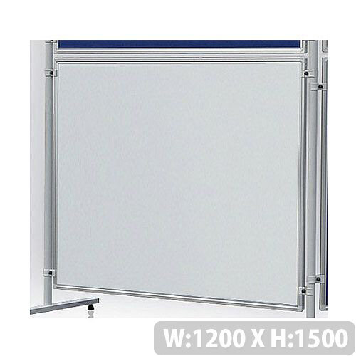 Double Sided Magnetic Whiteboard 1200 x 1500mm Franken Eco Partition System Module
