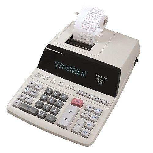 Sharp EL-2607P 2-Colour Printing Calculator Mains Powered