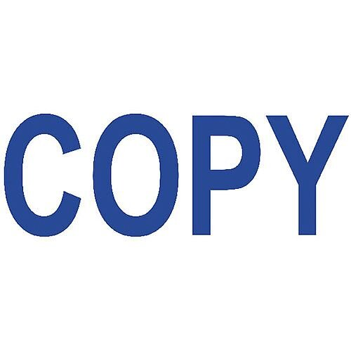 Colop Green Line Word Stamp COPY Blue C144836COP
