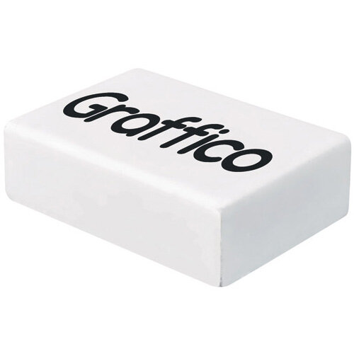 Graffico Plastic Eraser White Pack of 45 EN05992