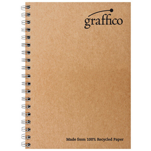 Graffico Recycled Wirebound Notebook 160Pg A4 Pack of 10 EN07340
