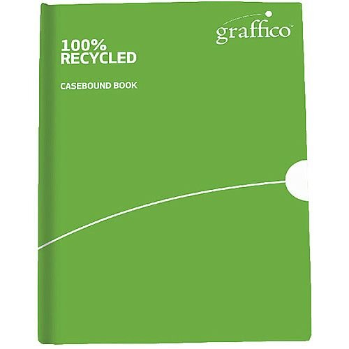 Graffico Recycled Casebound A4 Notebook Feint Ruled 160 Pages 9100032
