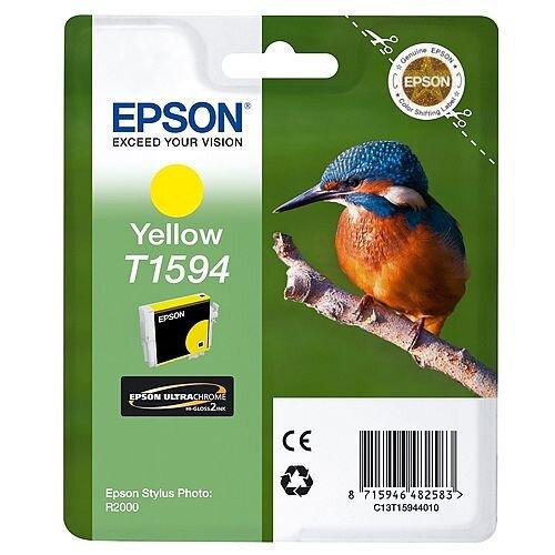 Epson Inkjet Cartridge Yellow Kingfisher T1594 Ultra Chrome Hi-Gloss2 C13T15944010 - for Epson Stylus Photo R2000