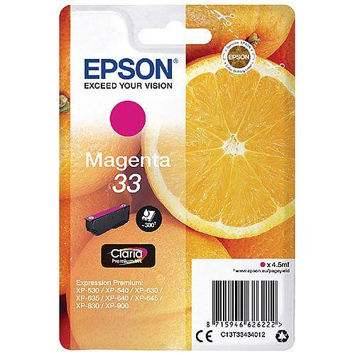 Epson 33 (T3343)  Magenta Inkjet Cartridge C13T33434010 / T3343 C13T33434012