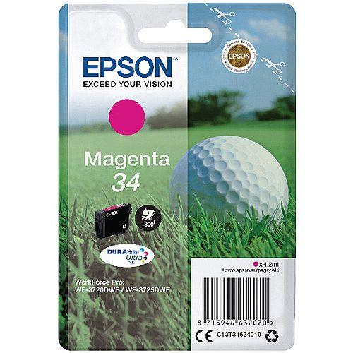 Epson Singlepack Magenta 34 DURABrite Ultra Ink