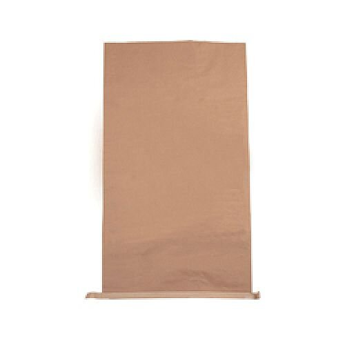 Plain Paper Waste Sack 485x150xH910mm Brown (Pack of 50) 47121701