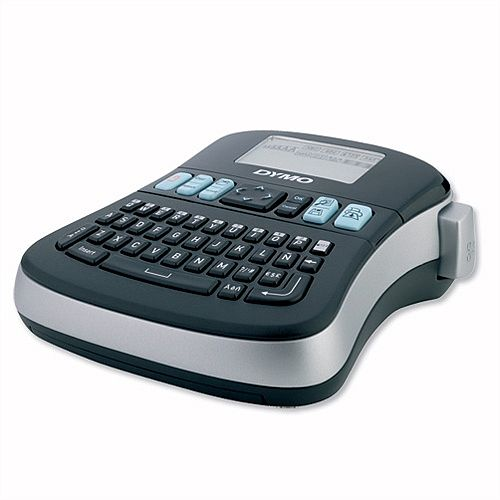 DYMO LabelMANAGER 210D - Desktop Labelmaker - monochrome - thermal transfer - Roll (1.2 cm) - 180 dpi - 1 line printing, 2 line printing - black, silver