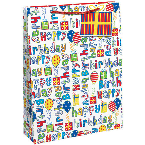 Happy Birthday Gift Bag Large Pack of 6 26955-2