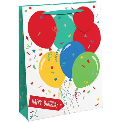 Happy Birthday Balloon Gift Bag Large Pack of 6 26952-2