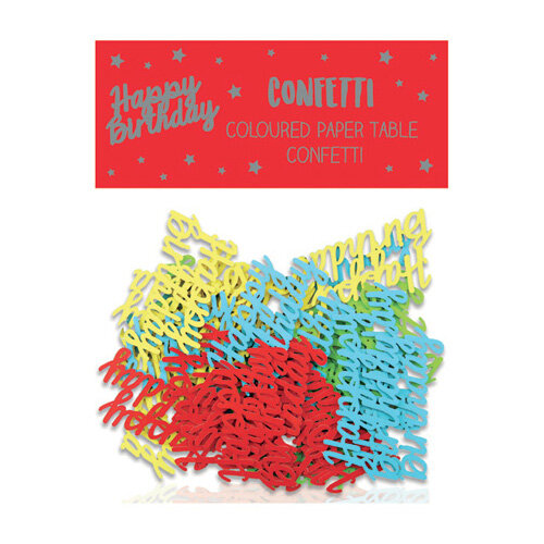 Happy Birthday Paper Table Confetti Pack of 12 24405-HB