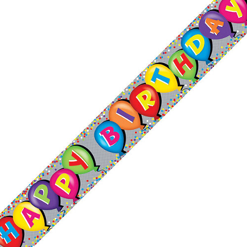Holographic Happy Birthday Balloon Banner Pack of 6 6837-HBH-4