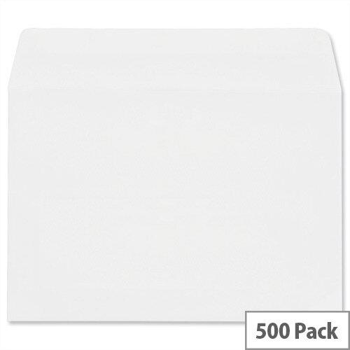 Plus Fabric C6 White Envelopes Press Seal Wallet Pack 500