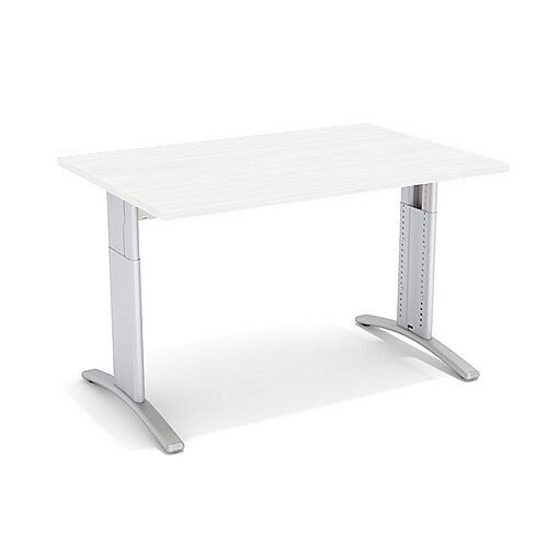 Flex R Height-Adjustable Rectangular Desk 1200x800x640-840mm White