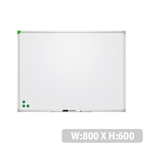 Franken Magnetic Whiteboard U-Act!Line 800x600mm Lacquered White SC916080