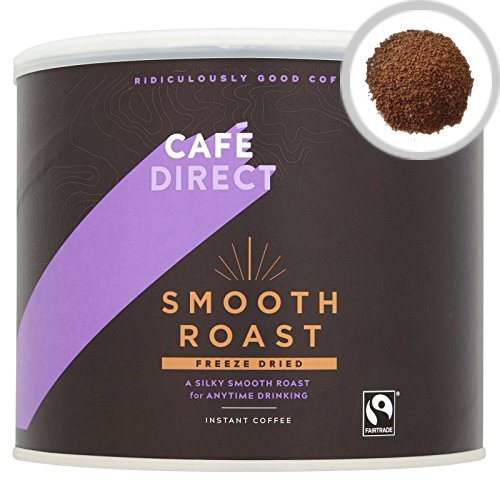 Cafedirect Fairtrade Freeze Dried Instant Coffee 500g Tin Pack of 1 TWI4101