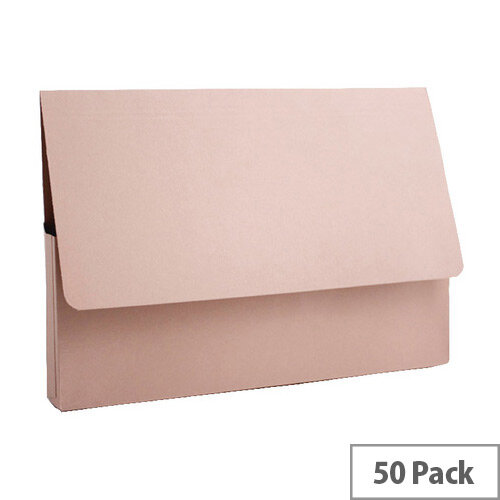 Guildhall Document Wallet A4 285gsm Buff Pack of 50 PDW4-BUFZ