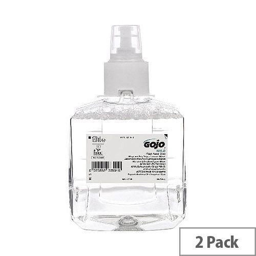 Gojo Mild Foam Hand Soap LTX-12 1200ml Refill Cartridges (Pack of 2) 1911-02-EEU