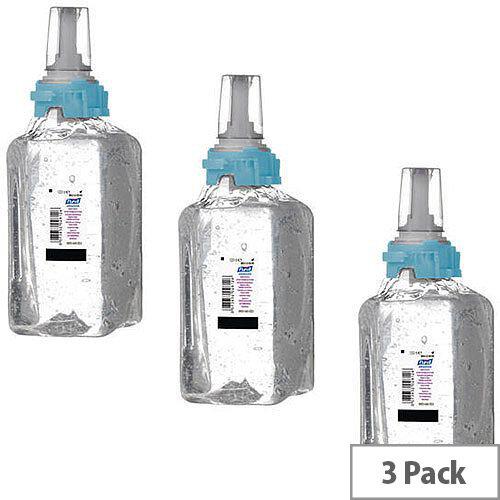 Gojo Purell Advanced Hand Sanitiser Hand Rub Gel Refill Cartridge ADX-12 1200ml (Pack of 3) 8803-03-EEU