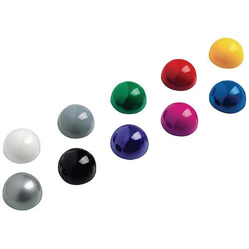 Lincmark Dome Magnets 0.6Kg Cap 10-piece Assorted 6166099