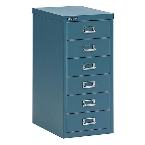 Bisley SoHo Multidrawer Cabinet 6-Drawer H590mm Doulton Blue