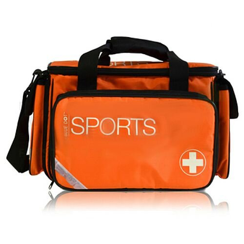 Advanced Sports First Aid Kit Complete in Large Orange Bag 1-50 Person Ref:300003PP