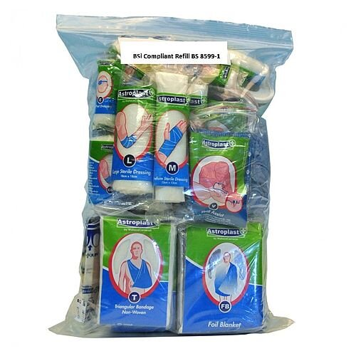 BSi 8599-1 Small Compliant First Aid Kit Refill Food Hygiene 1035049