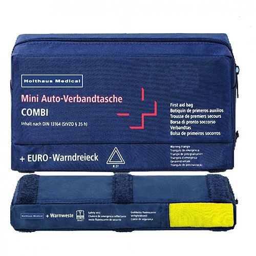 Holthaus First Aid Travel Kit 3-in-1 Combi DIN 13164 Up to 5 Person 1062220