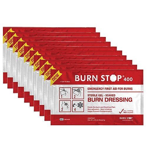 Water-Jel Burn Stop Gel Dressing 20cm x 20cm Value Pack of 10 2208002
