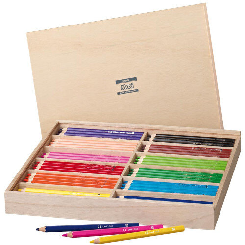 MAXI Box of 144 Colouring Pencils Ref HA29515