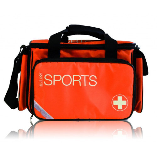 Multi Purpose Sports First Aid Kit In Large Orange Bag Up to 20 Person Ref 300003M