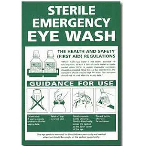 Sterile Emergency Eye Wash Sign 4255008